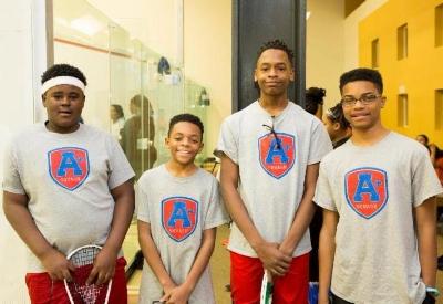 Members of A+Squash's BU15 Team