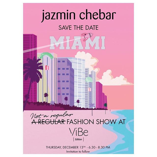 Save the date alert!  Very special event at ViBe to Welcome @jazminchebar to Miami. We want all our friends to join us for a colorful, fun afternoon to meet Jazmin and her amazing collection. 💗🌈🌸☀️💕