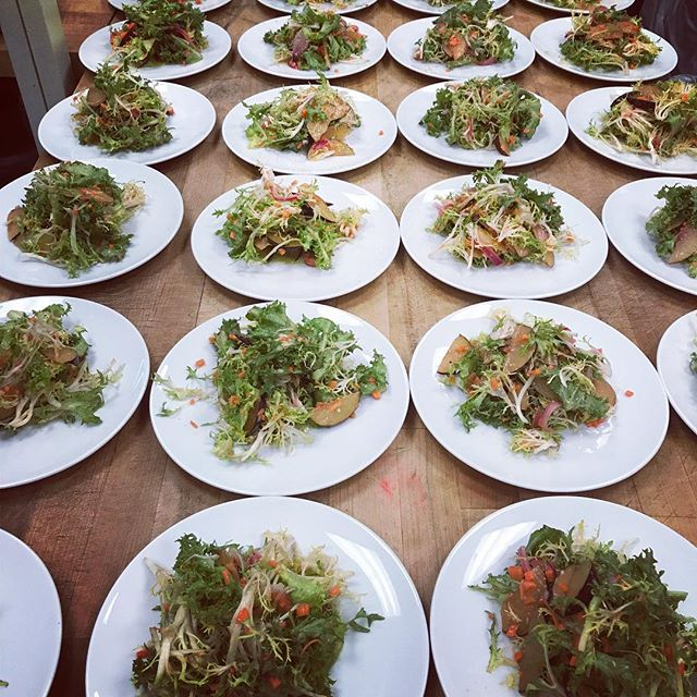 @prisonerwineco dinner first course: frisée | carrots | tomatillo #HoustonWineEvents #ThePrisoner #FriYay