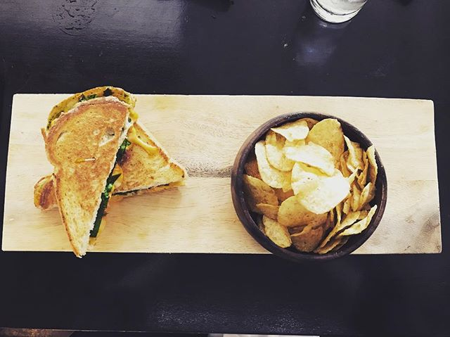 Refuel here #CheersToTheWeekend #MuseumDistrict #GrilledCheese #HoustonEats #HoustonWine