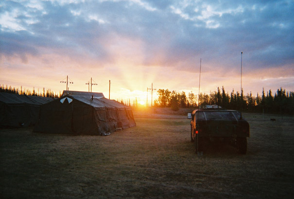 Sunrise at Fort Greely