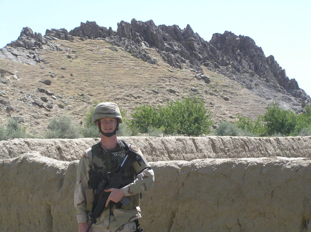 On patrol in Afghanistan