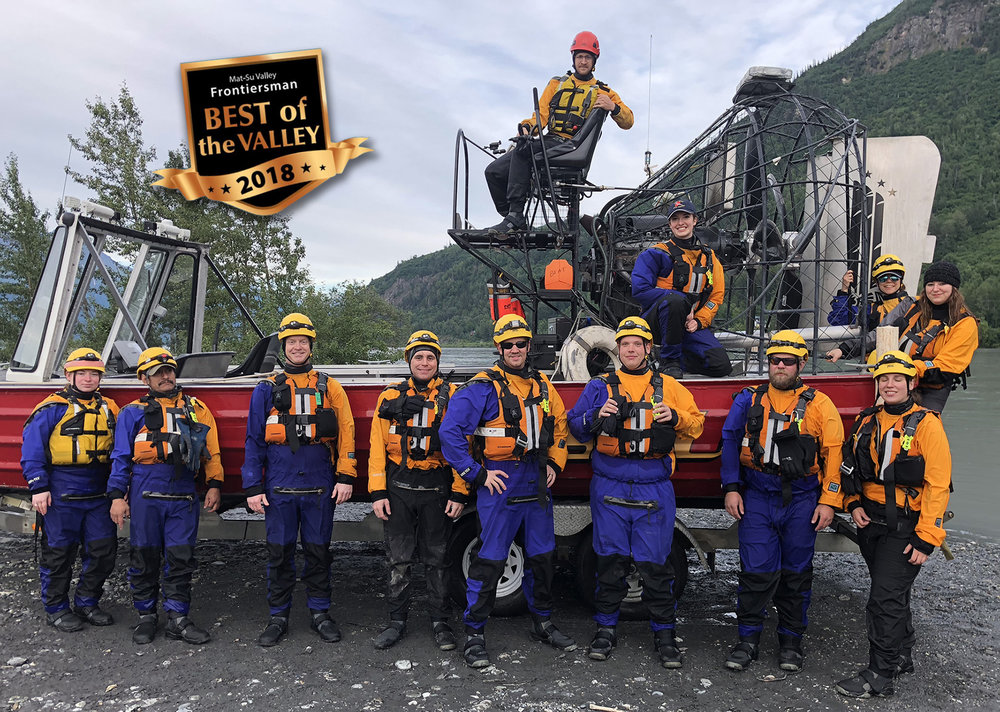 Congratulations to the Mat-Su Dive/Rescue Team for placing first in Best of The Valley!  The team has already had a busy summer with Alaskans from all over the state continuing to visit the wide variety of rivers and lakes found throughout the Mat-Su.  While the Water Rescue Team will do its best to have your back in the water, please stay safe out there. Life Jackets are a must! For those with water skills, keep a sharp eye on the borough jobs website for an opportunity to apply to join the team in a few months.