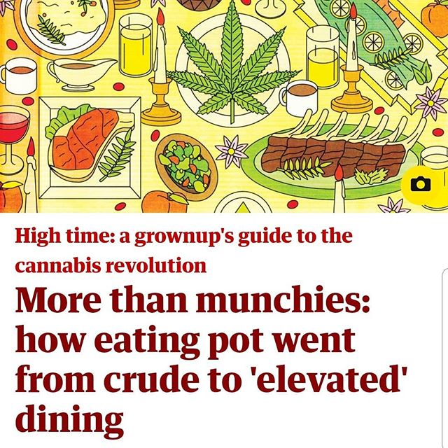 Editor Alex Halperin's latest for the @Guardian, featuring @lil_manofrom18th and Robyn Griggs Lawrence  #cannabusiness #cannabisculture #cooking #marijuana #cannabiz #letssmoke #letseat
