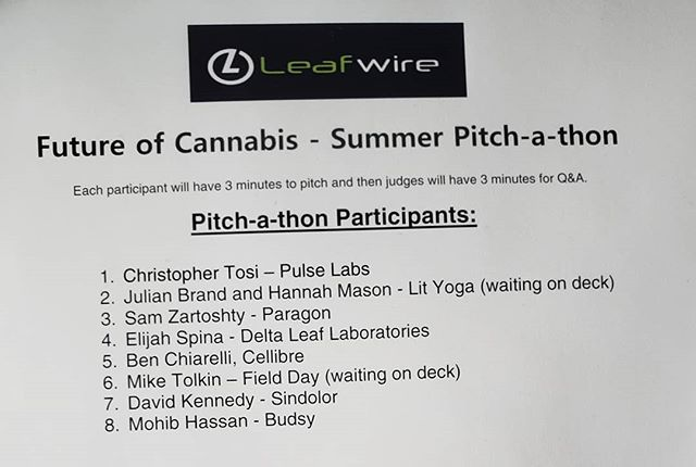 Weedweek editor Alex Halperin is judging tonight's @leafwire pitch fest. Good luck everyone!  #cannabusiness #cannabiz #santamonica #420 #420girls #legalizeit