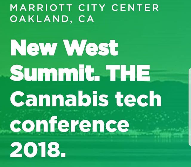 Excited for this week's #newwest summit this week in #oakland!  newwestsummit.com  @newwestsummit @donnyshell @adrienne.admaritea #cannabusiness #cannabiz #cannabis #pot #weed #tech #media