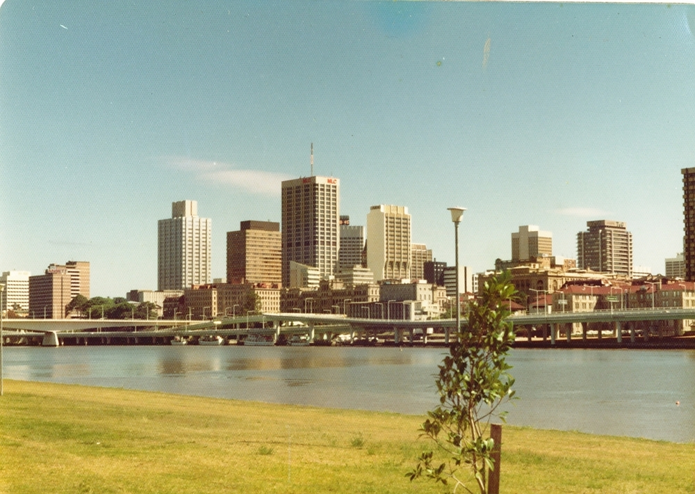 Brisbane, as I always think of it. Slightly yellowed, slightly 1980.