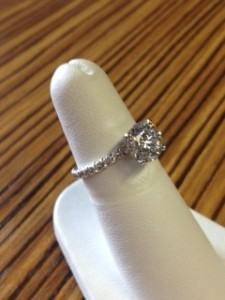 Platinum Engagement Ring @ Malka Diamonds
