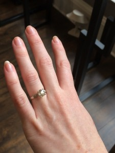 vintage-inspired custom engagement ring