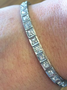 art deco 1920s tennis bracelet