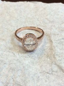 Rose Gold Diamond Halo
