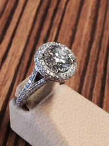 2 carat halo diamond ring