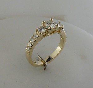 3-stone custom ring