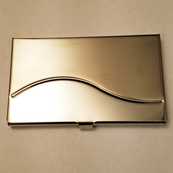 Business Card Holder    Brushed and Polished Stainless Steel    MSRP $20