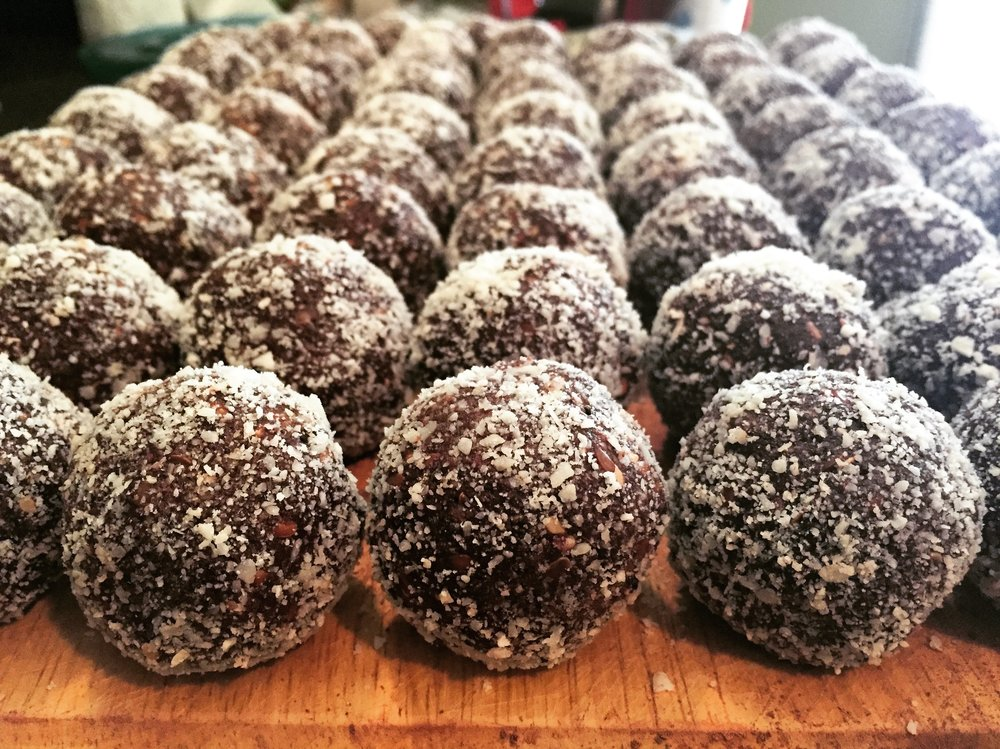 You could make your own bliss balls with our cacao paste! We like ours gluten-free, vegetarian, and with no sweeteners but honey.