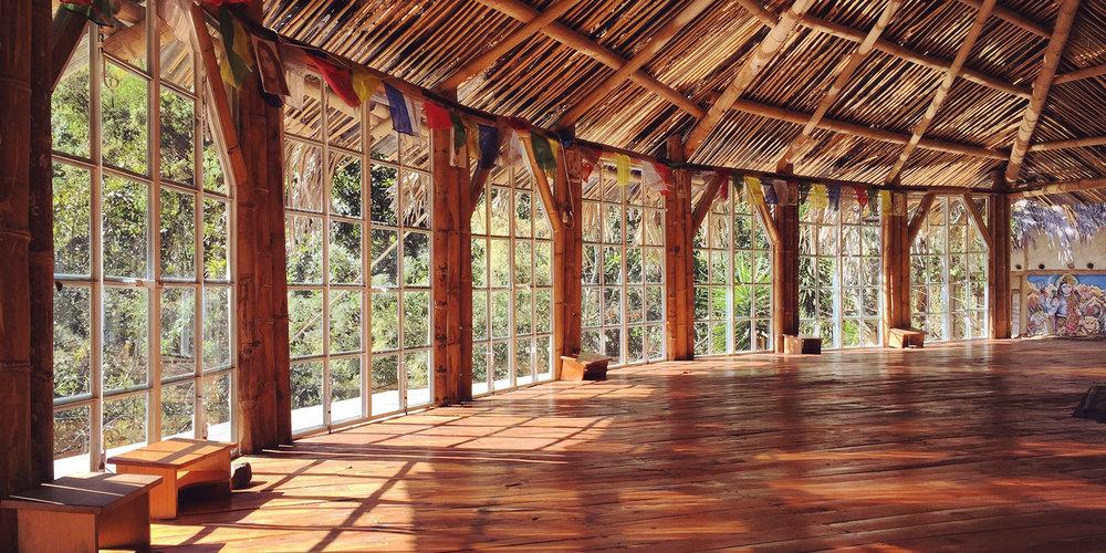 The Shiva Shala at MahaDevi Ashram in Tzununá, Lake Atitlan, Guatemala