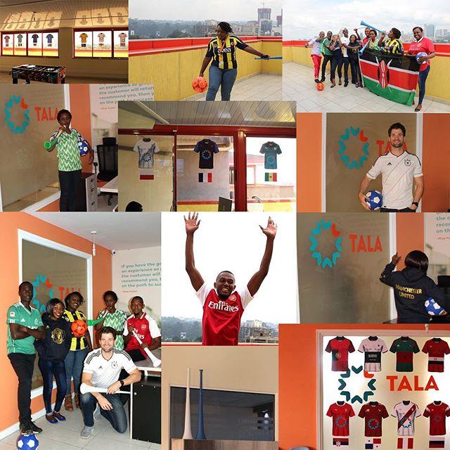 Tala's Kenya team is ready for the World Cup! #TeamTala #worldcup @tala_ke