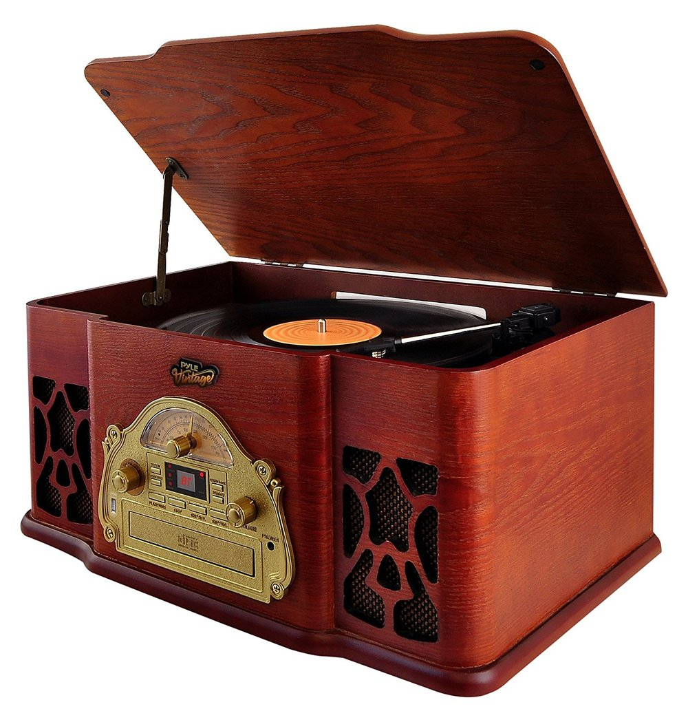Pyle Vintage Vinyl Turntable Stereo System Best Turntable under $200