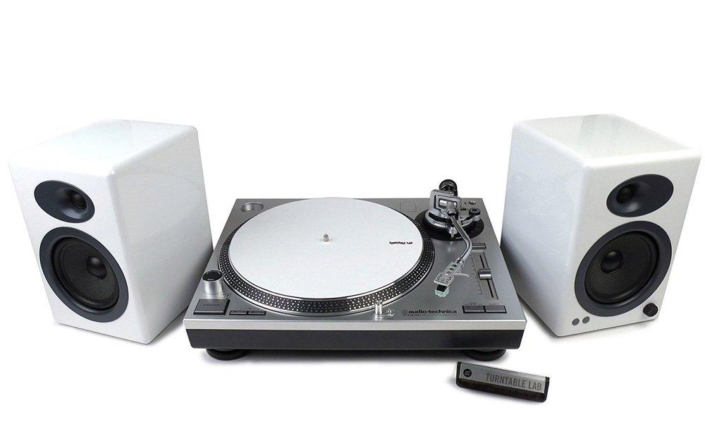 Best Turntable Bundle package Audio Technica AT-LP120 + AudioEngine A5+ speakers