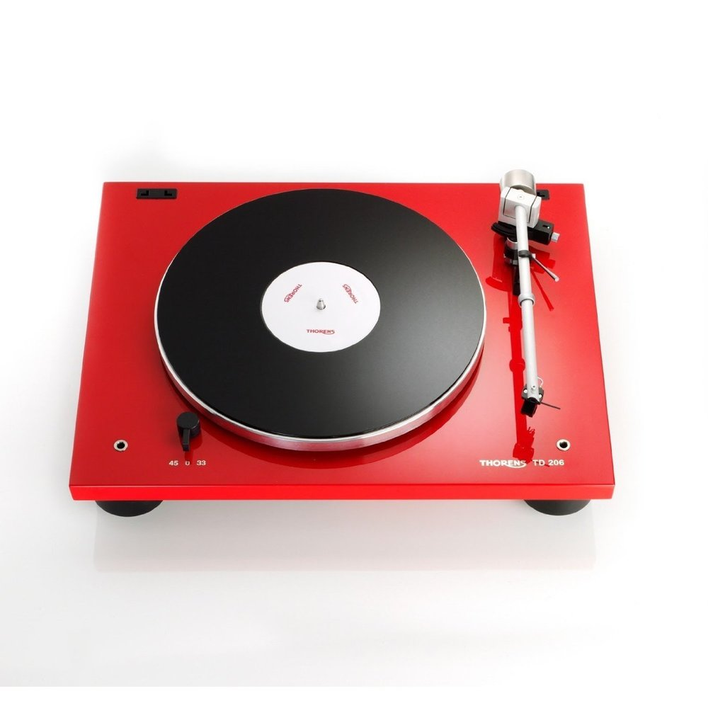 Thorens TD206 Gloss Red Turntable Best audiophile turntable