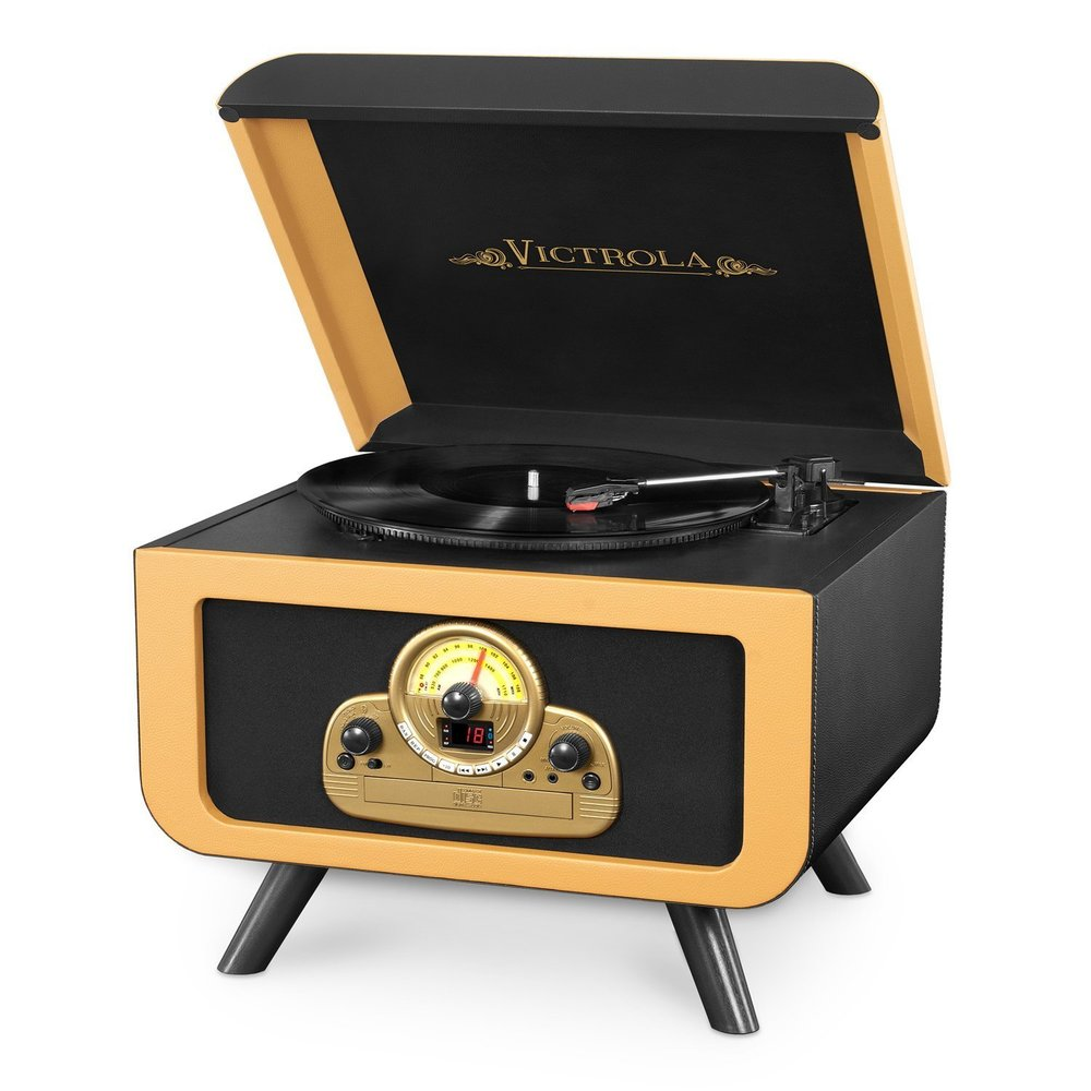 Victrola Tabletop Nostalgic Bluetooth Innovative Technology Wooden Turntable Entertainment Center Best Vintage Turntable.jpg