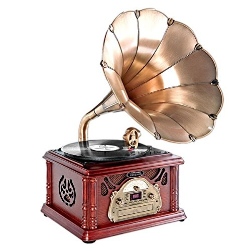 Pyle-Home PTCDS3UIP Classical Trumpet Horn Turntable The Best Vintage Turntables and record players.jpg
