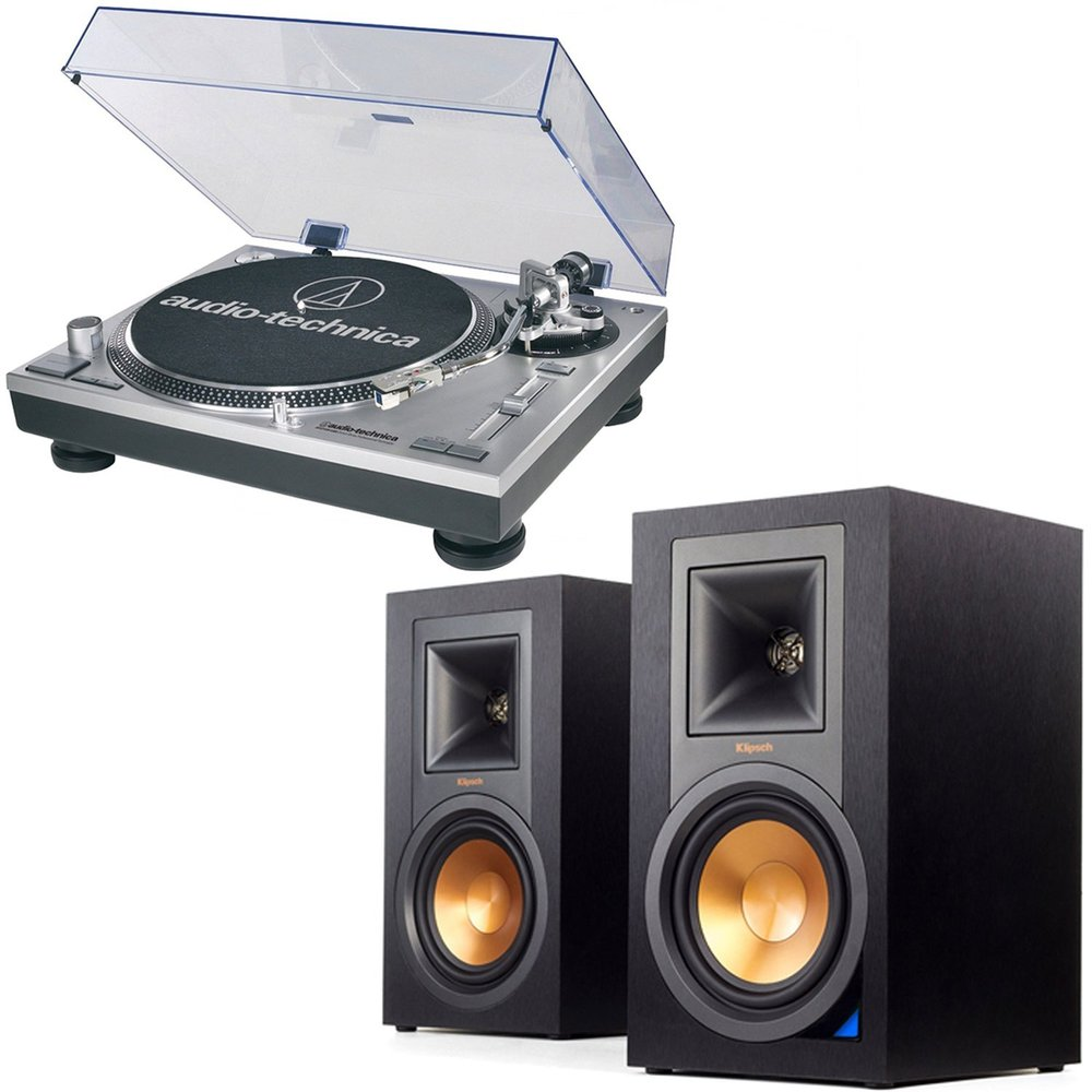 Audio Technica ATLP120 + Klipsch R15PM best turntable Bundle