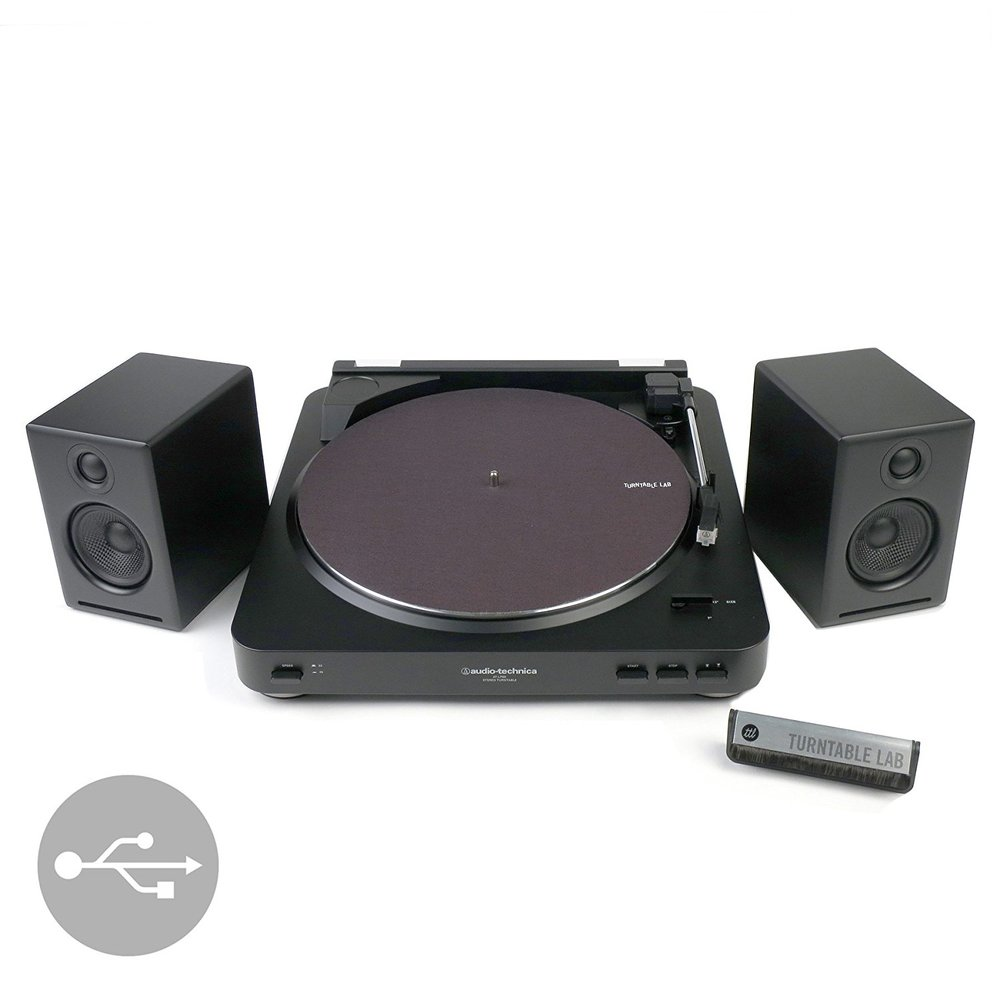 Audio Technica ATLP60 + Audioengine A2+ Best Turntable Bundle