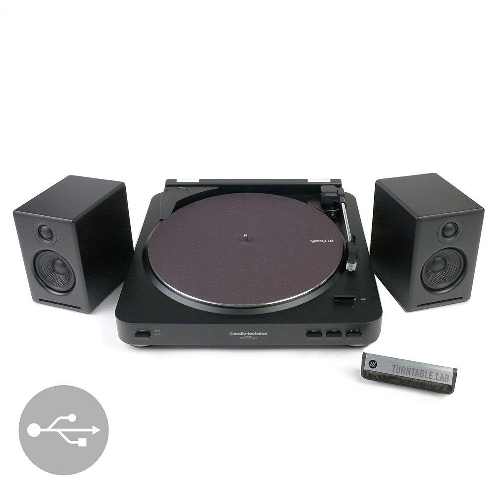 Audio Technica ATLP60 + Audioengine A2+ Best Turntable Bundle