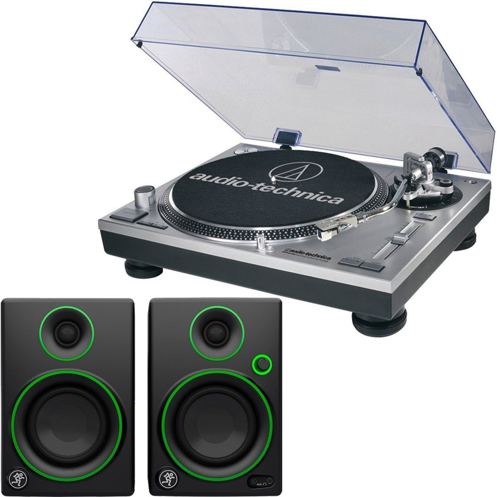 Audio Technica ATLP120 + Mackie CR3 Best turntable bundle