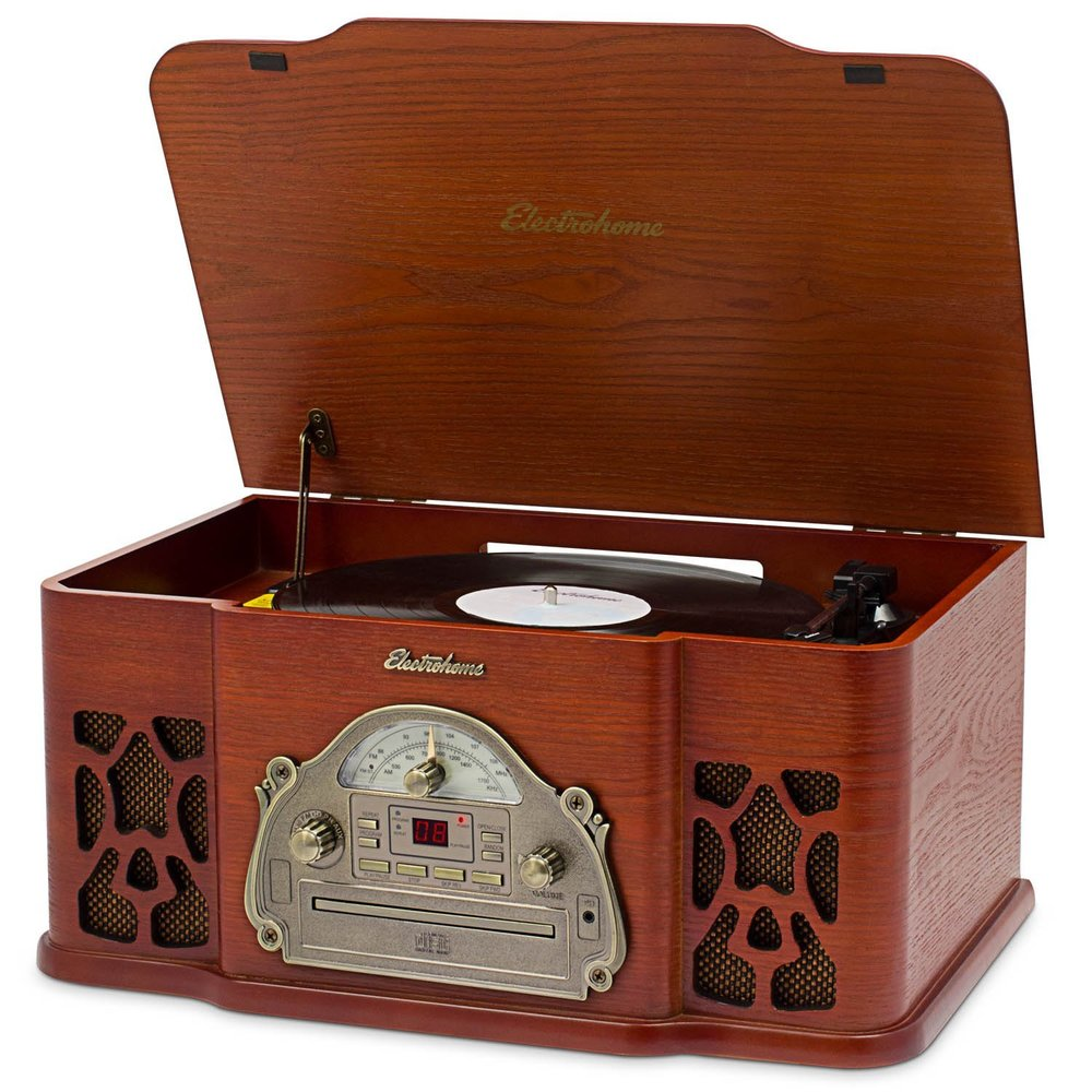 Electrohome Winston Vinyl Record Player highest reviewed best selling all in one turntable