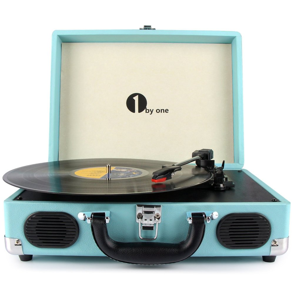 1byone Belt-Drive 3-Speed Portable Stereo Turntable .jpg