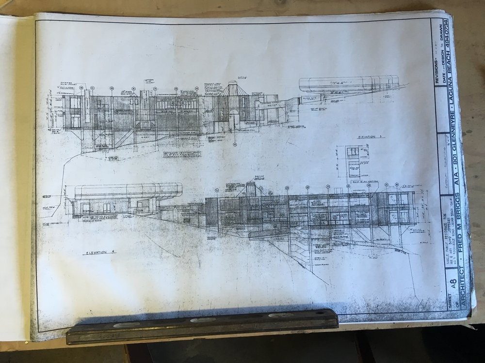 Original plans from the hand drawn era