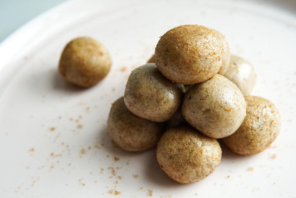 Cardamom Tahini Snickerdoodle Balls