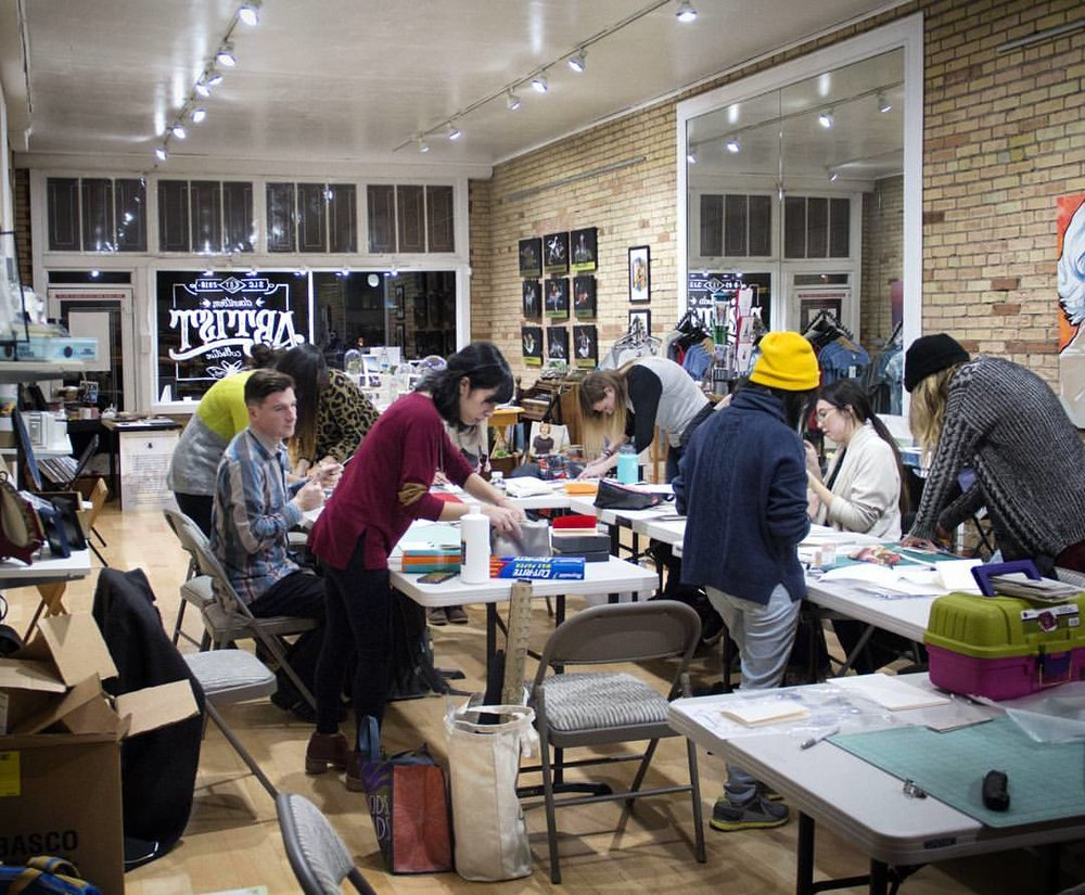 Host a Workshop with the Downtown Artist Collective - Need a space to hold a workshop? Consider having it at the Downtown Artist Collective: we have a lovely space with exposed brick walls and gallery lighting. And did we mention there's new art on the walls every month?