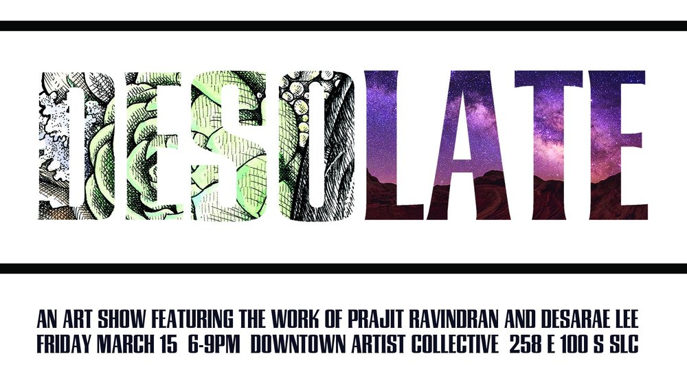 March 2019 DAC show featuring the work of Desarae Lee and Prajit Ravindran