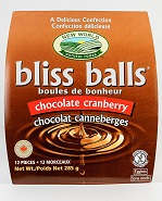 Chocolate Cranberry Bliss Balls