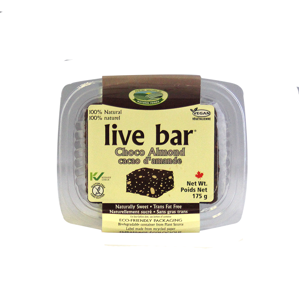 New World Foods Organic Chocolate Almond Live Bar
