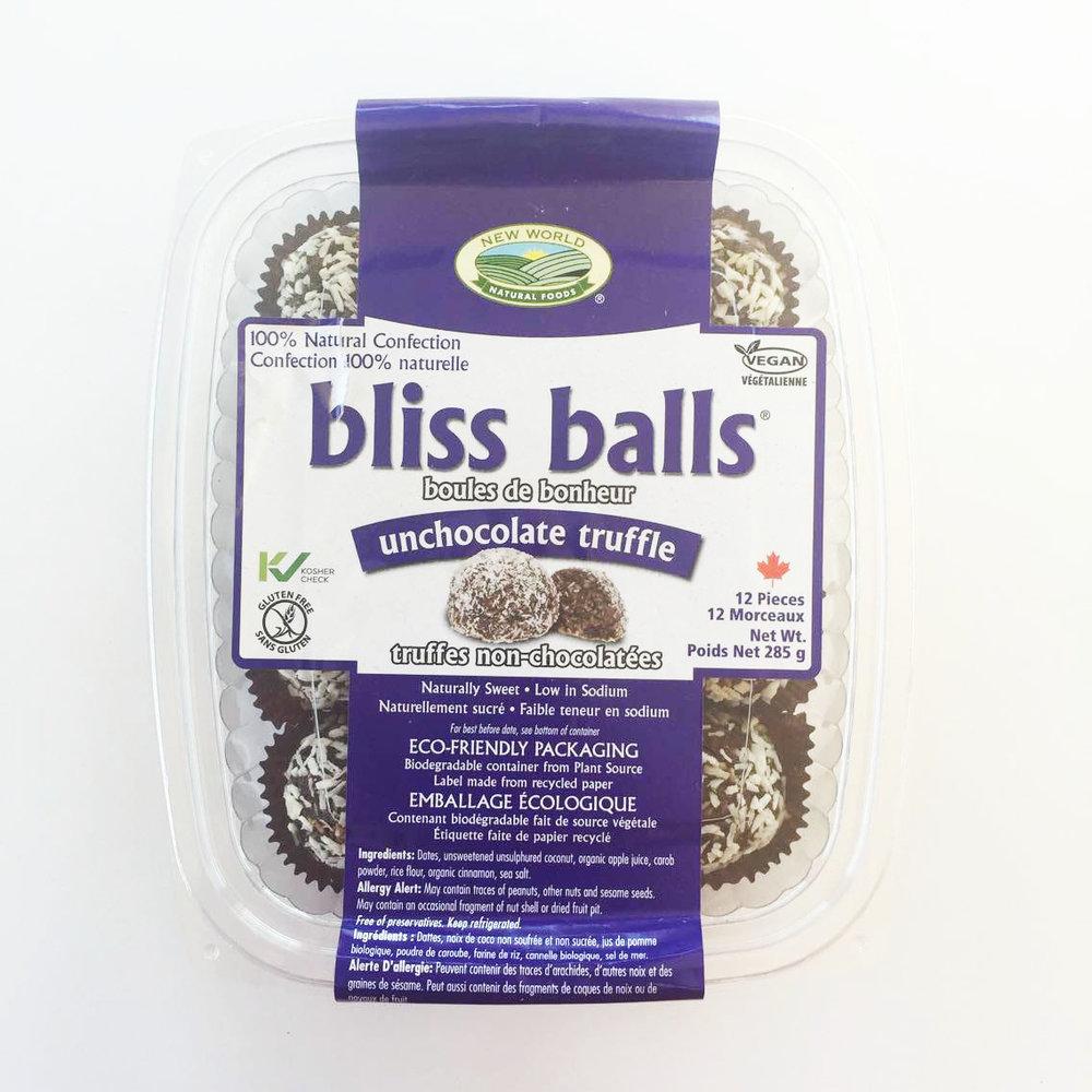Unchocolate truffle vegan bliss balls