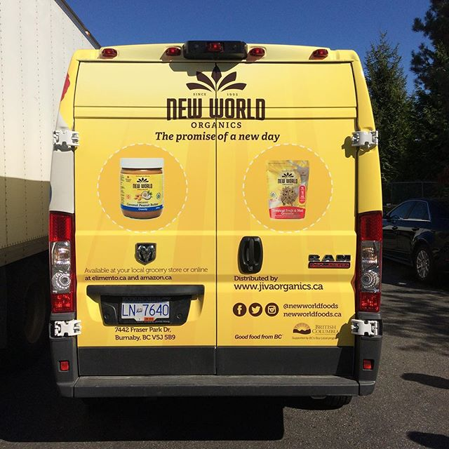 New delivery style! Vancouver watch out! #newworld #madeincanada #veganlife #veganeats #granola #peanutbutter #design #truckdesign