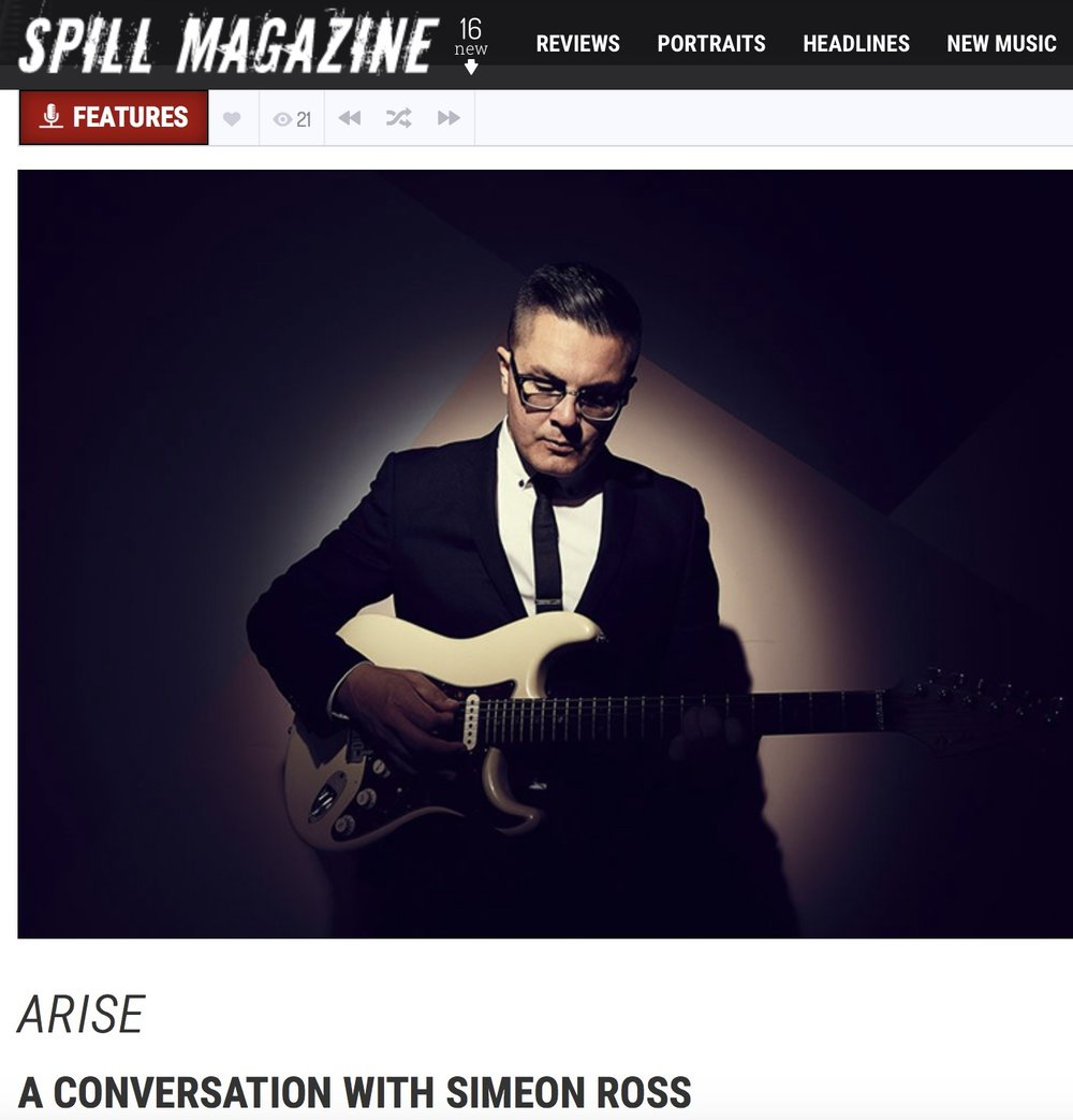 A huge thanks to Spill Magazine for the interview and the 'Arise' Music Video Premiere! Photos by Jen Squires!  -