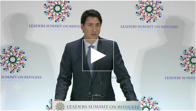 Click  to watch Prime Minister Trudeau tell our Peace By Chocolate story at the United Nations. (Special thanks to CBC Nova Scotia for video coverage)
