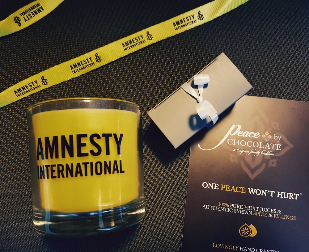 We are side by side with Amnesty International to stand for the values of tolerance, peace and human equality!