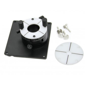 MSAR5B microscope slide mount and rotational base is an optional accessory for the MSBL-ZW1 polarizing backlight.