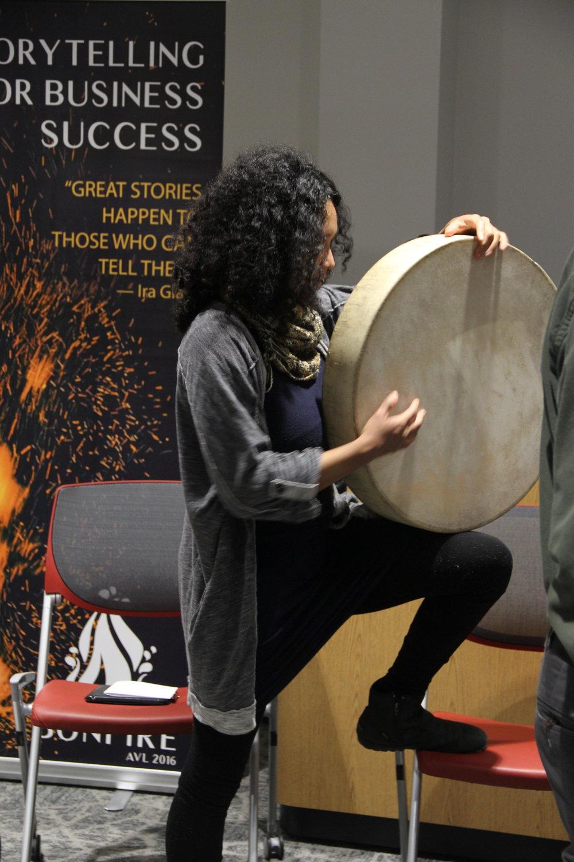 Dominique and Drum.JPG