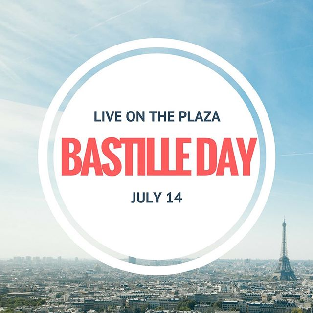 Head to LIVE on the Plaza on July 14 to celebrate Bastille Day here in OKC! #liveontheplaza #okc #bastilleday