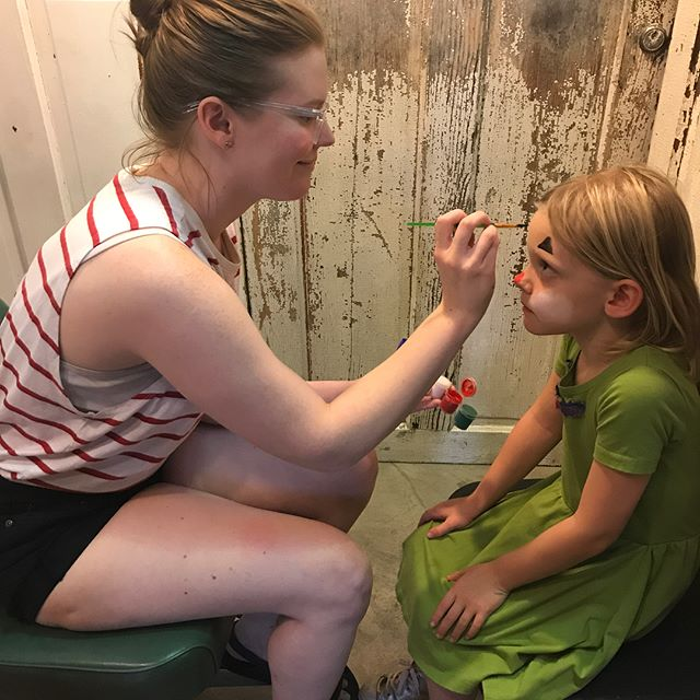 @collectedthread is getting in the Bastille Day spirit with mime face paintings! Stop by PhotoArt Studios to visit the Alliance Française and hear some French music!