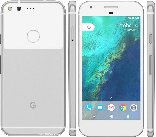 A picture displaying multiple miews of the Google Pixel. Source is the Wired Website