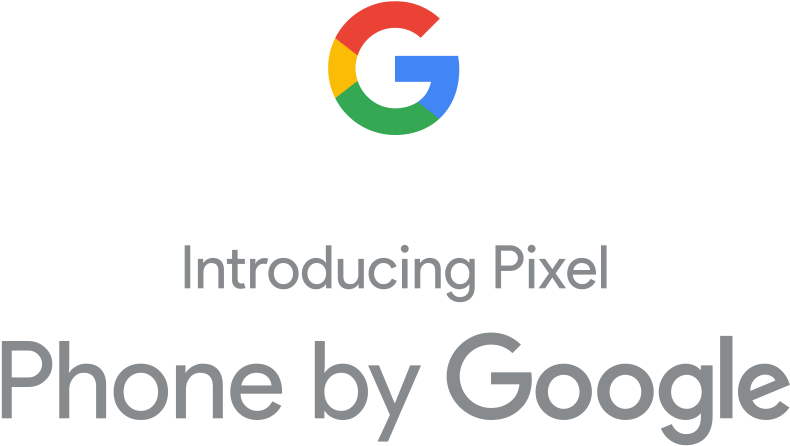 Picture displaying colorful logo and slogan from Google