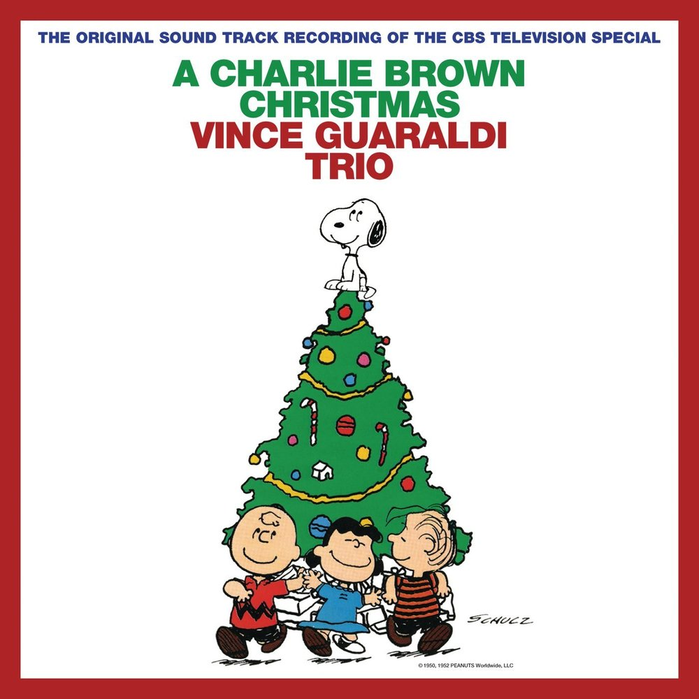 The album cover of A Charlie Brown Christmas, released in 1965 by the Vince Guaraldi Trio.  Photo from itunes.apple.com.